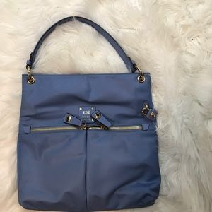 Henri Bendel Blue Handbag Purse W/Crossbody Strap